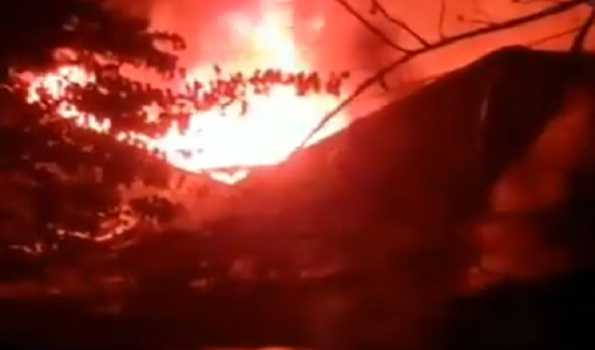 Major fire in Satsang Bhavan in Thane
