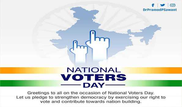 Goa CM greets people on National Voters Day