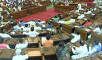 Congress boycotts, SP stages protest during one-day special session of UP Assembly