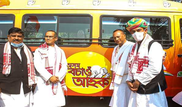 Congress launches Assam election campaign with statewide bus tour