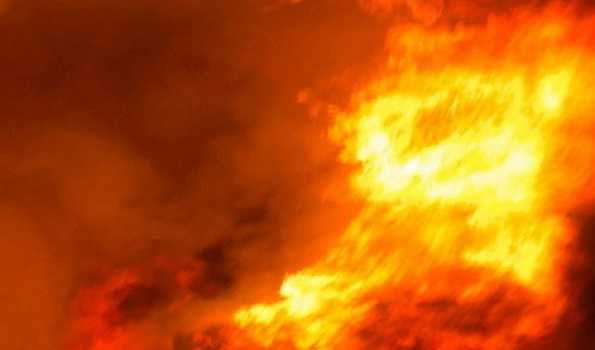 Fire at cosmetic factory in North Delhi