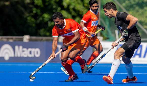 Indian men's hockey team play out 4-4 draw against Argentina