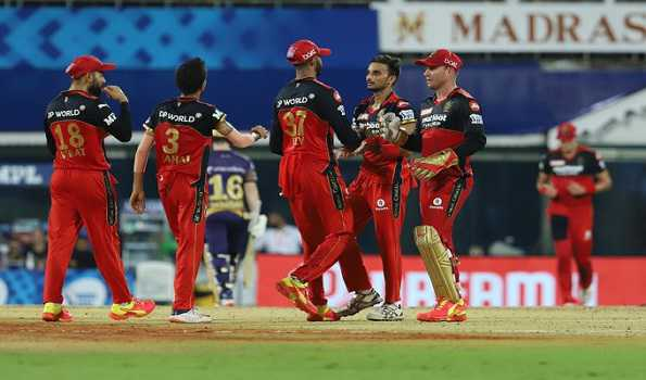 RCB thrashes KKR by 38 runs, moves to top of the table