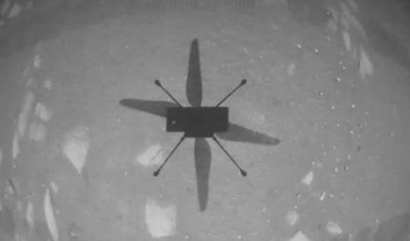 NASA launches Ingenuity Helicopter from Mars' surface