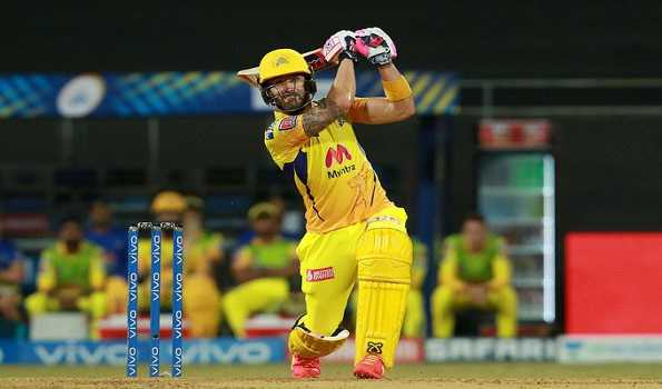 IPL 2021: du Plessis, Gaikwad fifty power CSK to 220/3 against KKR