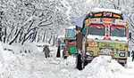 Traffic remains suspended to dozens of far-flung, remote areas in Kashmir