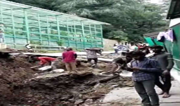 36 inhabitants of buildings evacuated near Oakover in Shimla town, shifted to makeshift places