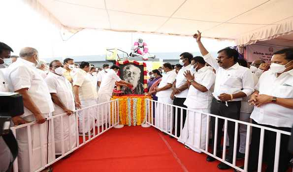 Floral tributes paid to Periyar on his 143rd birth anniv