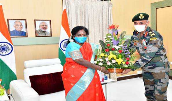 Southern Army Commander calls on Telangana Guv; visits military stations in twin cities