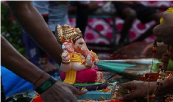 Ten-days long Ganesh festival conclude with dull note