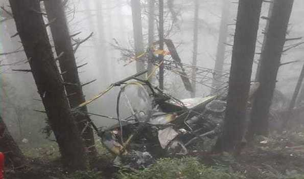 Helicopter crashes in J&K's Udhampur